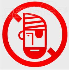 No Pirates Boat Decal Sticker