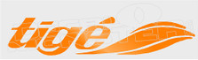 Tige Logo Style 2 Boat Decal Sticker