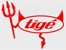 Tige Logo Devil Style 3 Boat Decal Sticker