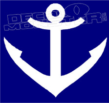 Anchor 7 Silhouette 1 Boat Decal Sticker