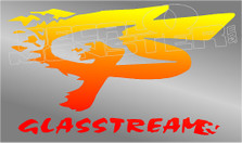 GlassStream Flames Boat Decal Sticker