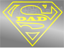 Superdad Decal Sticker