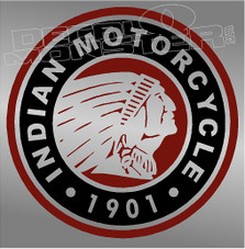 Indian Motorcycles Emblem 3 Decal Sticker
