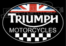 Triumph Motorcycles British Patch Style Decal Sticker