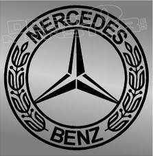 Mercedes Benz Logo Style 1 Decal Sticker