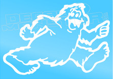 Bigfoot Trailers Silhouette Decal Sticker