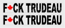 Fuck Trudeau Maple Leaf3 Canada Decal Sticker