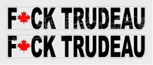 Fuck Trudeau Maple Leaf3 Canada Decal Sticker