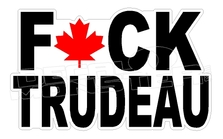 Fuck Trudeau Maple Leaf Canada Decal Sticker