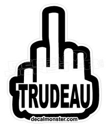 Fuck Trudeau Middle Finger Canada Decal Sticker