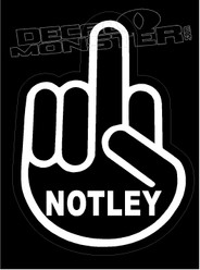 Fuck Notley Middle Finger1 Canada Decal Sticker