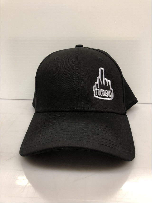 b90d33e1b13 Fuck Trudeau Middle Finger Salute 9TWENTY New Era Premium Hat EMB11 ...