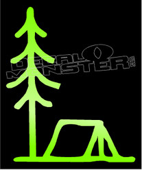 Nature Camping Tent Woods Decal Sticker DM