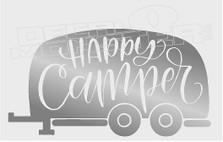 Nature Camping Happy Camper Trailer  Decal Sticker DM
