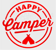 Nature Camping Happy Camper Decal Sticker DM