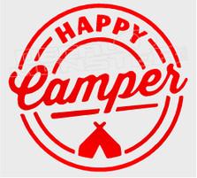 Nature Camping Happy Camper Decal Sticker DM