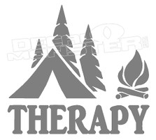 Nature Camping Tent Thersapy Decal Sticker DM
