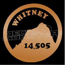 Mount Whitney 14,505 Hiking Decal Sticker DM