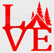 Love Camping Wording Silhouette Decal Sticker DM