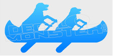 Canoe Paddling Dogs Funny Decal Sticker DM
