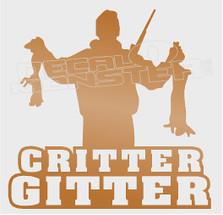 Critter Gitter Hunting Silhouette Decal Sticker DM