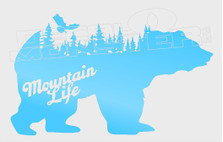 Bear Silhouette Nature Mountain Life Decal Sticker DM