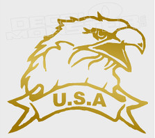 Bald Eagle USA Silhouette 1 Decal Sticker DM