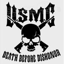 United States Marine Corp Death Before Dishonor Decal Sticker DM