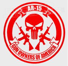 AR-15 Gun Owners of America Decal Sticker DM