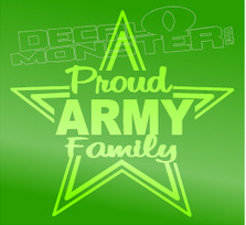 Proud Army Family Star Vector Decal Sticker DM