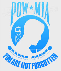 POW-MIA Never Forgotten Decal Sticker DM