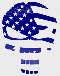 Punisher USA Flag Silhouette Decal Sticker DM