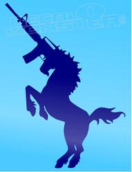 Unicorn Assualt Rifle Silhouette Decal Sticker DM