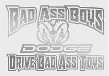 Dodge Badass Boys Decal Sticker DM