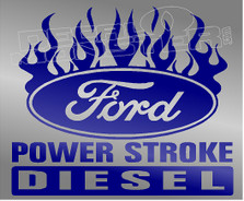 Ford Powerstroke Diesel Edition 8 Decal Sticker DM