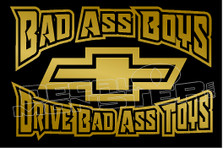 Bad Ass Boys Chev Decal Sticker DM