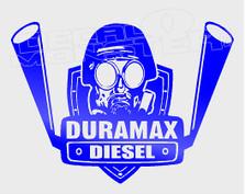 DuraMax Diesel Chev Truck Racing Silhouette Decal Sticker DM