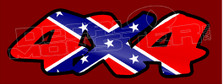 Confederate Rebel Flag 4x4 Edition 1 Decal Sticker DM