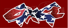 Confederate Rebel Flag 4x4 Edition 2 Decal Sticker DM