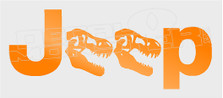 Jurassic Dino Jeep Logo Decal Sticker DM