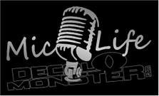 Mic Silhouette Mic Life Decal Sticker DM