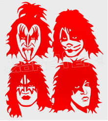 Music Band Kiss Silhouette 1 Decal Sticker DM