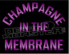 Champagne In the Membrane Alcohol Decal Sticker DM