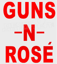 Guns N Rose Alcohol Decal Sticker DM