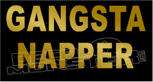 Gangsta Napper Funny Decal Sticker DM