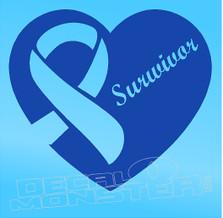 Awareness Cancer Survivor Decal Sticker DM