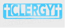 Clergy Supporter Cross Religous Decal Sticker DM