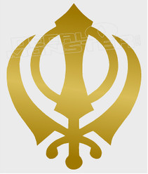 Sikh Symbol5 Decal Sticker DM