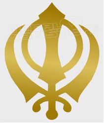 Sikh Symbol5 Decal Sticker DM