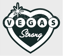 Vegas Shooting Strong Memorial Decal Sticker DM
